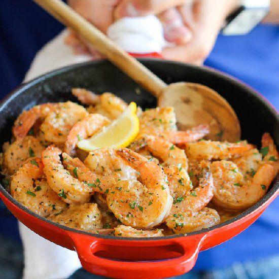 Garlic Butter Shrimp - An amazing flavor combination of garlicky, buttery goodness.