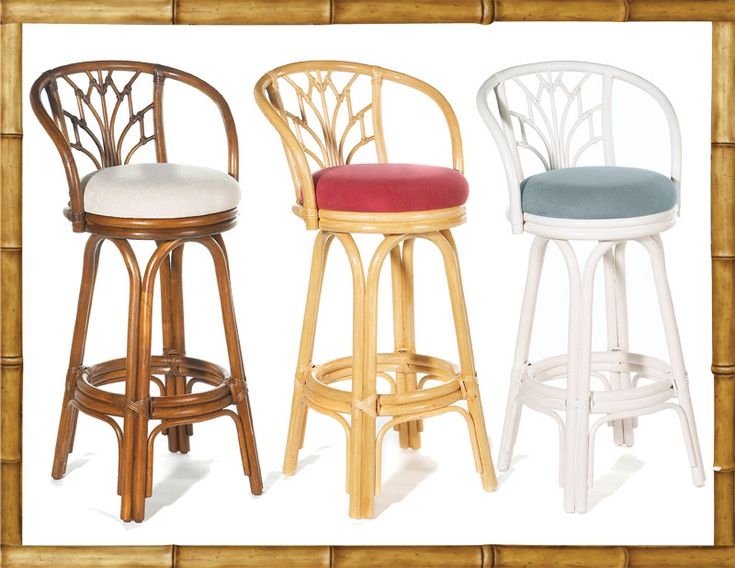 Exceptional Unique Counter Height Kitchen Bar Stools With Bamboo Design Stool Back Also  Varnished Rattan Stool Legs Great Ideas