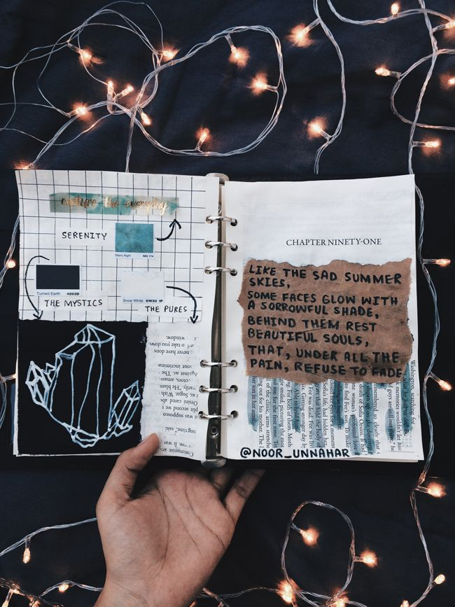 best of art journal - december glows | Aesthetic ...