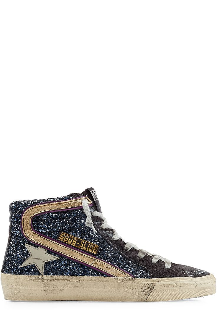 High-Top Glitter Sneakers detail 1