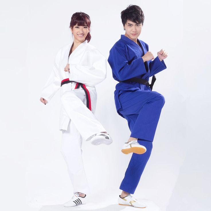 2017 men&womens males unisex wear tandard jiu jitsu judo suit training suit thickening judo gi clothes white&blue wear clothes