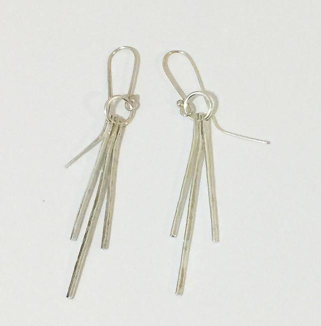 Hand Made Sterling Silver Dangle Earrings £24.00