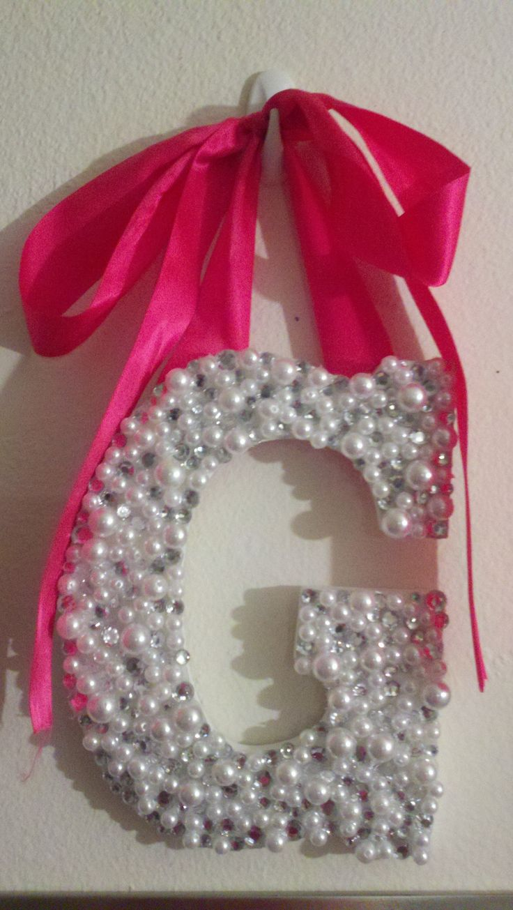 Pearls and rhinestones 113 best WOODEN LETTERS