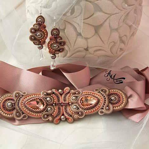 """Mi piace"": 11, commenti: 1 - Alina Mihailov (@amdesignsoutache) su Instagram: ""#soutachejewelry #lovemywork #buysoutachejewelry #handmadejewelry"""