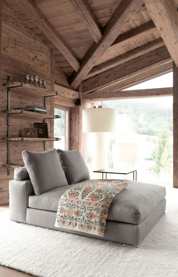 (If a chalet could be a barn.) Designer chalet in Tyrol, Austria. Ideal use of natural materials and textures.