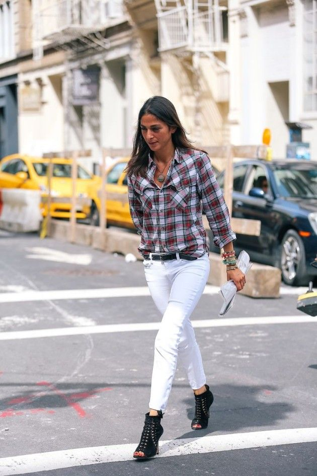 17 Best images about STYLING CLOTHES- White/Cream PANTS on ...