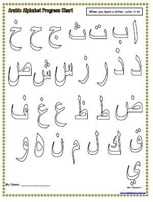 Arabic Alphabet Writing Practice Sheets 5