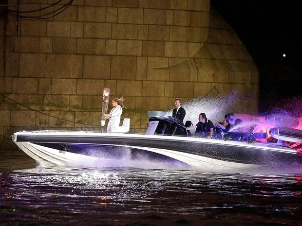 David Beckham: David Beckham may not have made the GB football team squad, but he made a huge impact at the Opening Ceremony. Becks drove the torch on a neon speedboat through a flaming Tower Bridge.