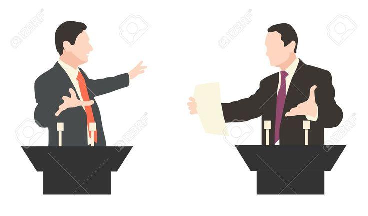 Debate Two Speakers. Political Speeches, Debates, Rhetoric. Broad ...