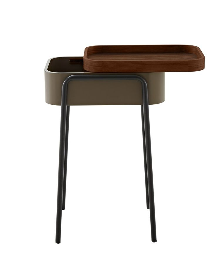 Wooden coffee table / bedside table COULISS by ROSET ITALIA design Philippine Lemaire