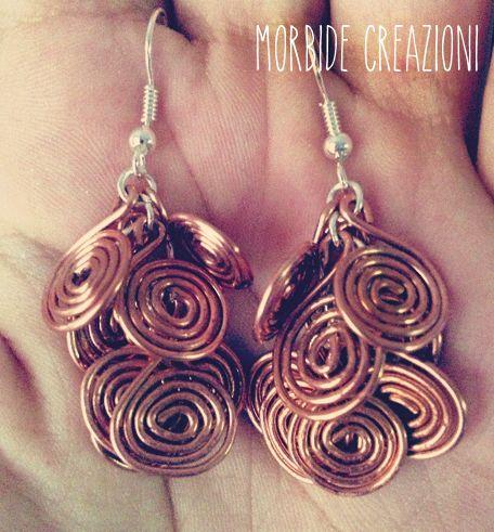Orecchini a grappolo con spirali/Spiral earrings