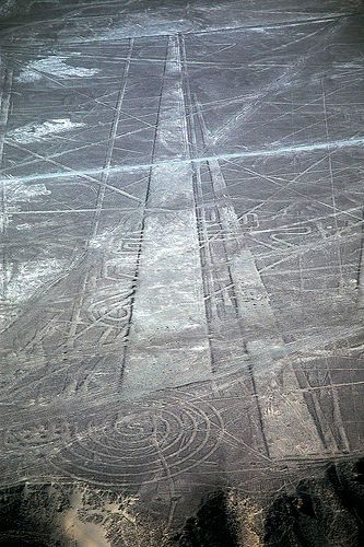 The Nazca Lines - etched into a high plateau in Peru's Nazca Desert, a series of ancient designs stretching more than 50 miles has baffled archaeologists for decades.: