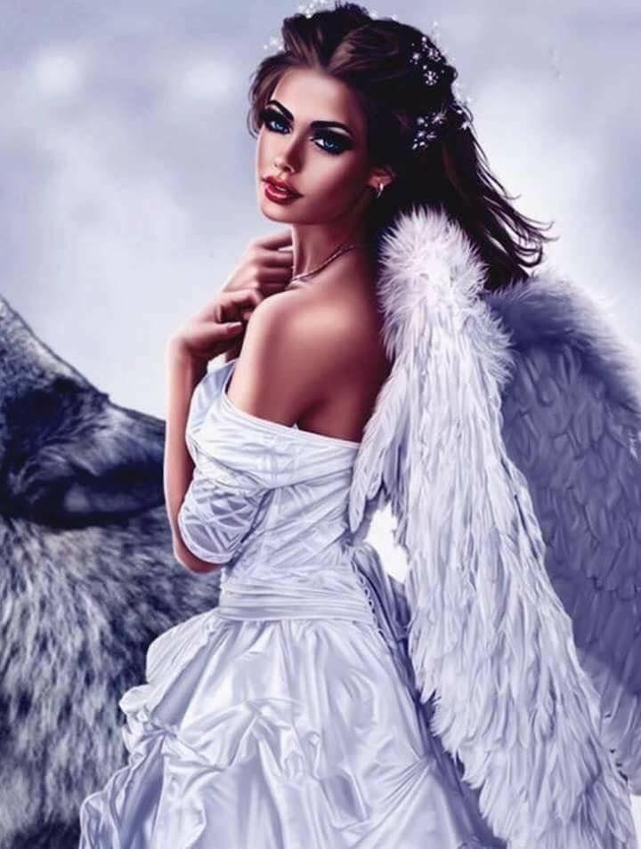 Ангелы девушки открытки, букет роз