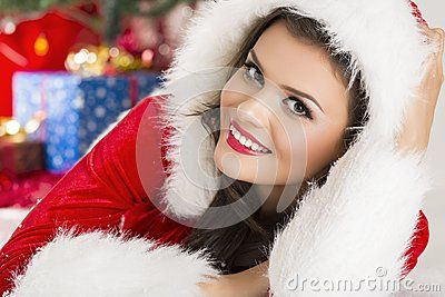 Download Smiling Lady In Santa Outfit Stock Image for free or as low as 0.69 lei. New users enjoy 60% OFF. 19,800,051 high-resolution stock photos and vector illustrations. Image: 35186621