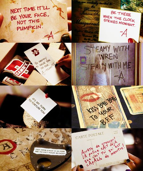 Pretty Little Liars ~ A messages ~ that awkward moment when you secretly wish you could write like A