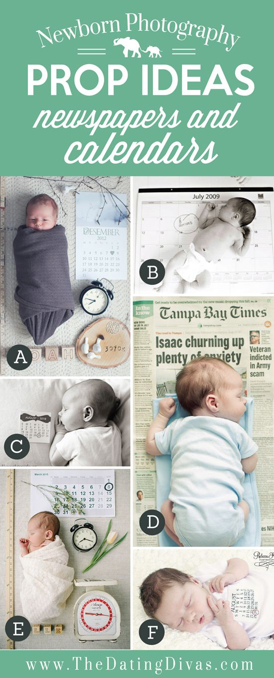 Adorable Newborn Photography Prop Ideas using Calendars