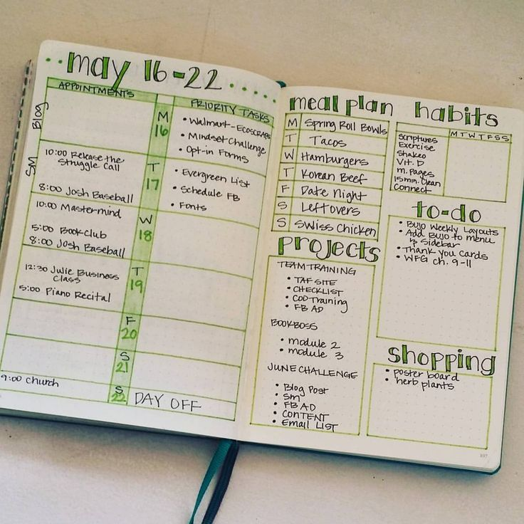 My Weekly Layout Keeps Me Focused And Is Really The Heart Of My #bulletjournal System. | Bullet ...