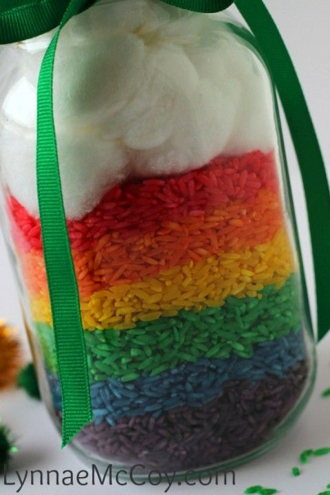 Colored Rice St. Patrick's Day Centerpiece