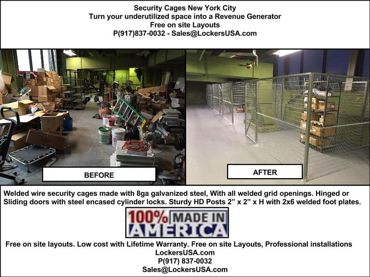 Security Cages & Tenant Storage Lockers NYC. Free on site layouts, Low cost,