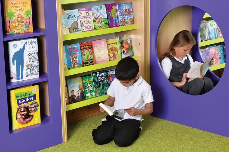 Primary school library furniture - designed to make the books look irresistible