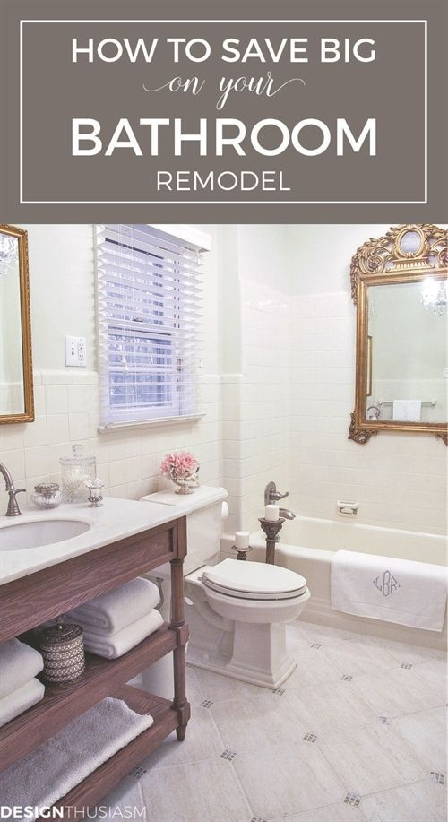 how to save big on your bathroom remodel bathroom renovation on a rh pinterest com