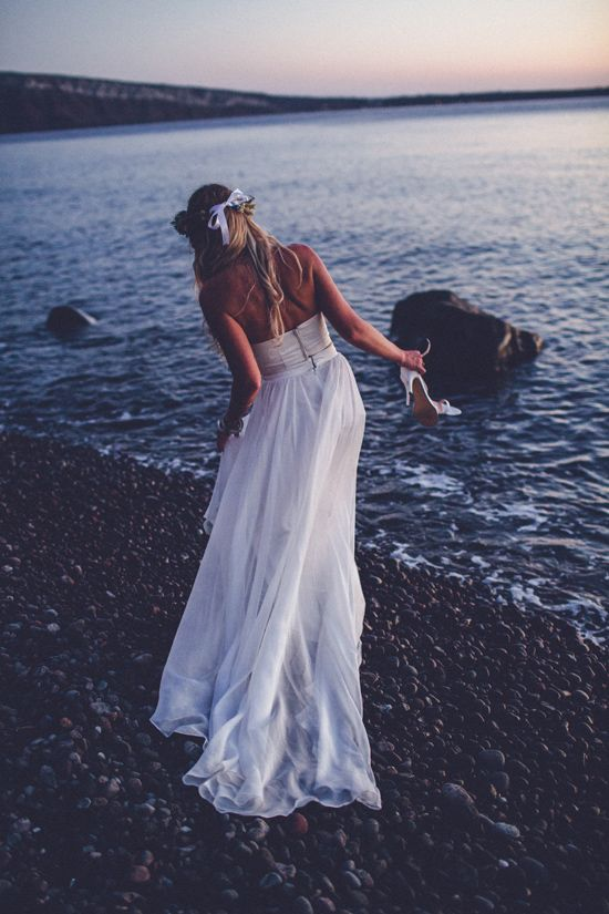 ' Bohemian Destination Wedding In Greece