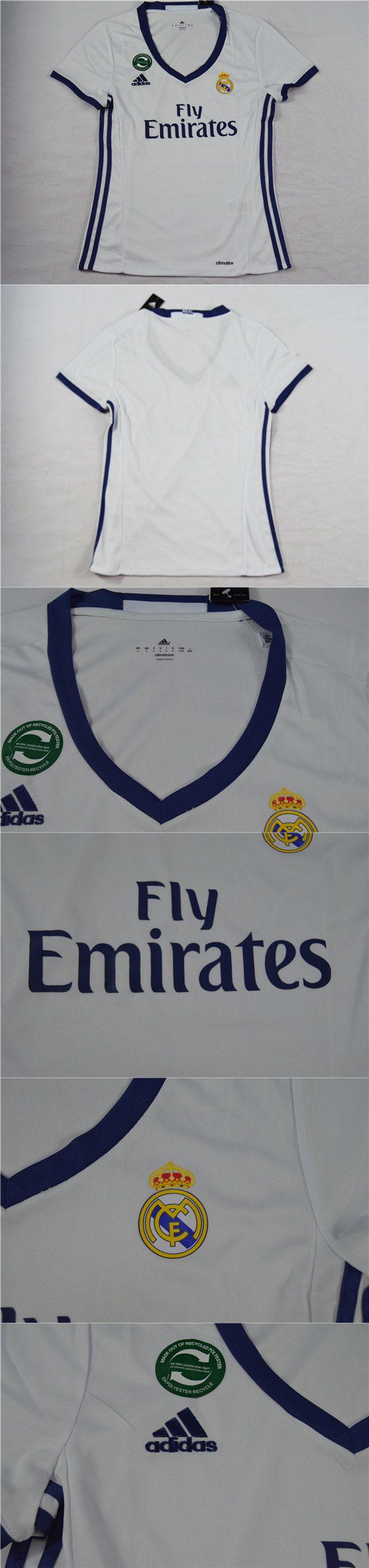 Cheap Soccer Jerseys   Spanish Liga Real Madrid Home Women's Jersey Shirt 2016-2017   www.hotclubjersey.com