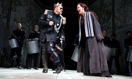 Kevin Spacey's powerful Richard faces the moral revulsion of Haydn Gwynne's Queen Elizabeth. Photograph: Tristram Kenton for the Guardian