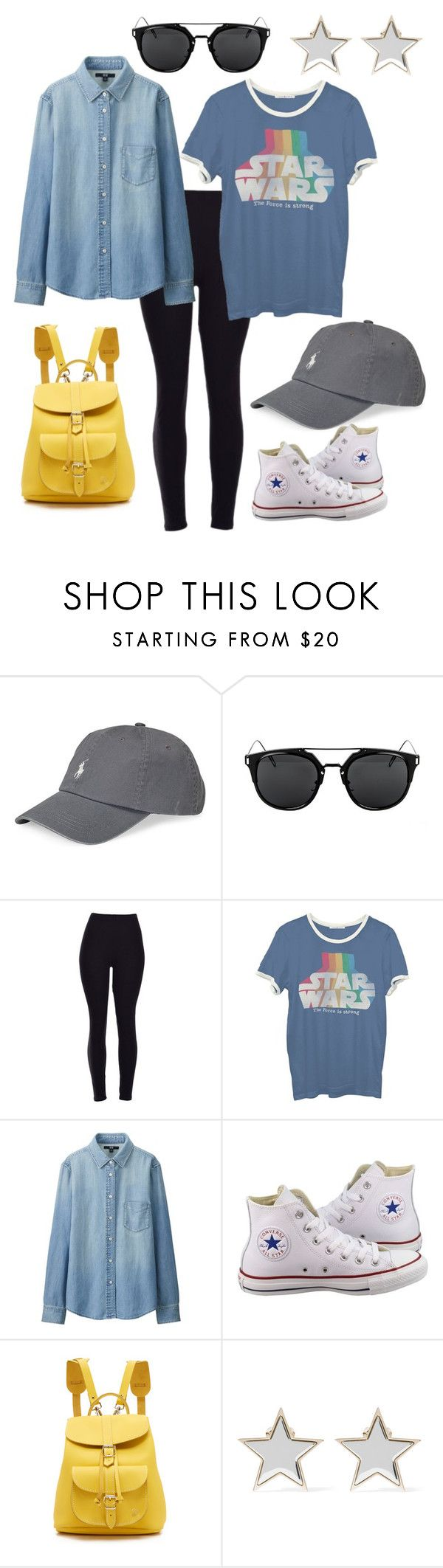 """""""Untitled #45"""" by leahpatricia ❤ liked on Polyvore featuring Polo Ralph Lauren, Junk Food Clothing, Uniqlo, Converse, Grafea and Givenchy"""