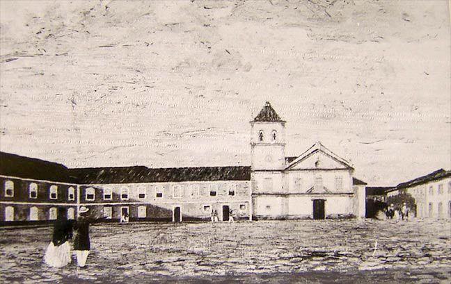 Pátio do Colégio - SP em 1840. Fotos. Acervo. História, Sociedade e Educação no Brasil - HISTEDBR - Faculdade de Educação - UNICAMP