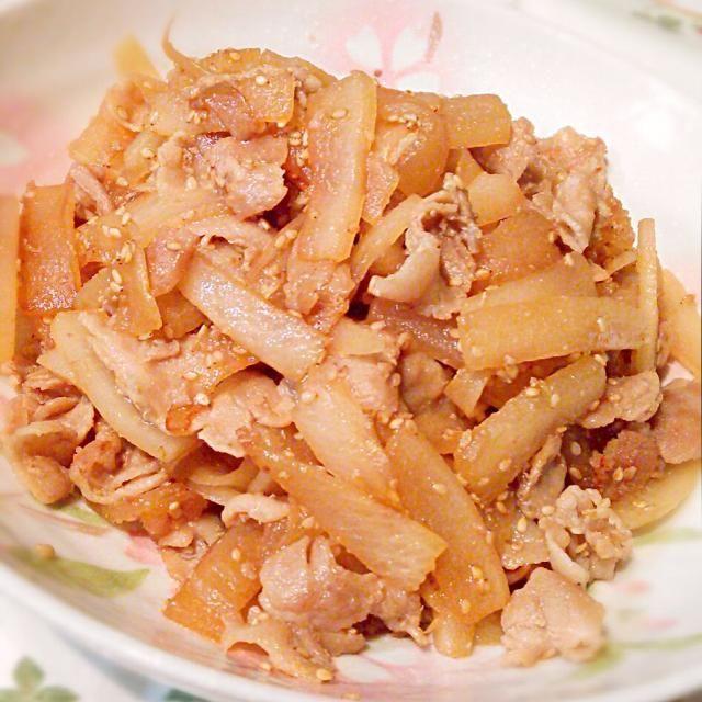朝ごはんのお供に♪ご飯が進みます(*^^*) - 116件のもぐもぐ - 常備菜*豚バラ肉と大根のきんぴら♪ by cocotay