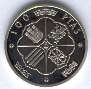 Medalla F.N.M.T. 100 Pesetas F. Franco 1966 Plata