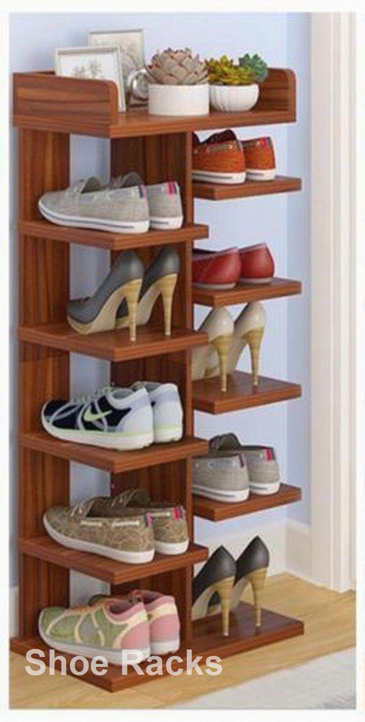 Shoe Rack And Shoe Organization Layout De Moveis Decoracao Da Casa Artesanal Decoracao De Casa