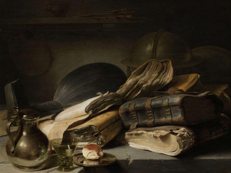 Jan Lievens, Stilleven met boeken, ca. 1627 - ca. 1628. Rijksmuseum, Amsterdam Nederland.