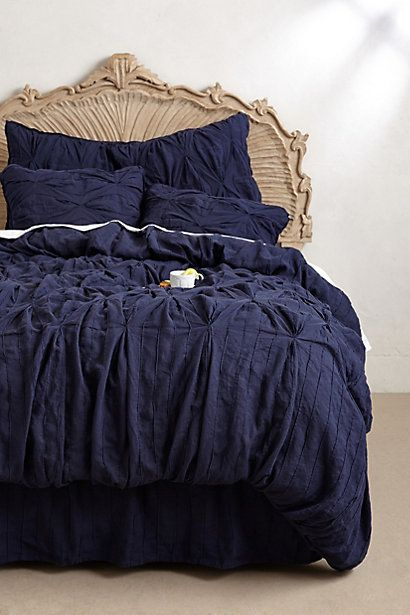 Aurora Linen Duvet - anthropologie.com #anthroregistry..don't care for the bed board at all.