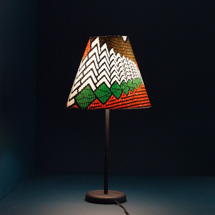 Accordion light shade by Wrong London and Vlisco for Hay, print by Marjan de Groot