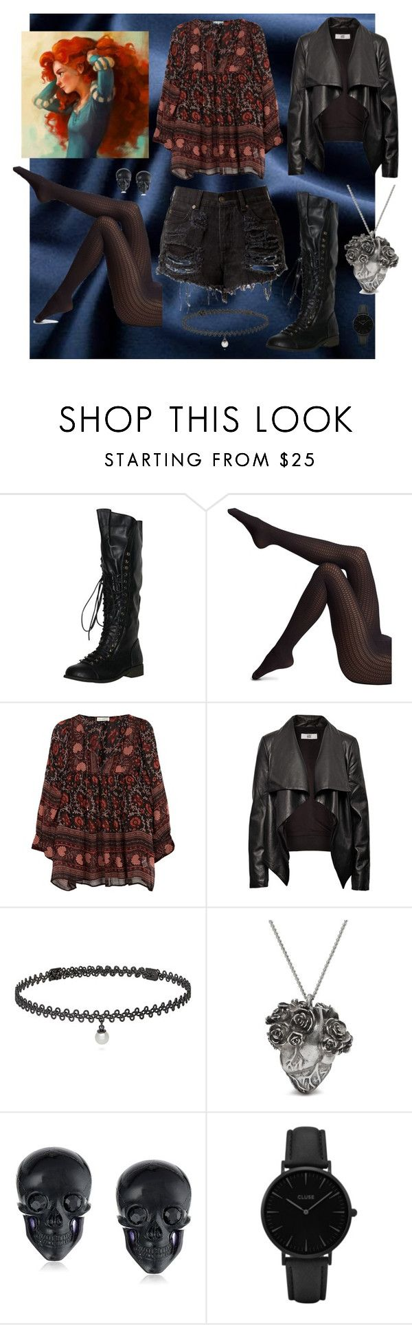 """""""Merida"""" by olallollasmile ❤ liked on Polyvore featuring Wolford, Ulla Johnson, HIDE, BERRICLE, Mulberry, Tarina Tarantino and CLUSE"""