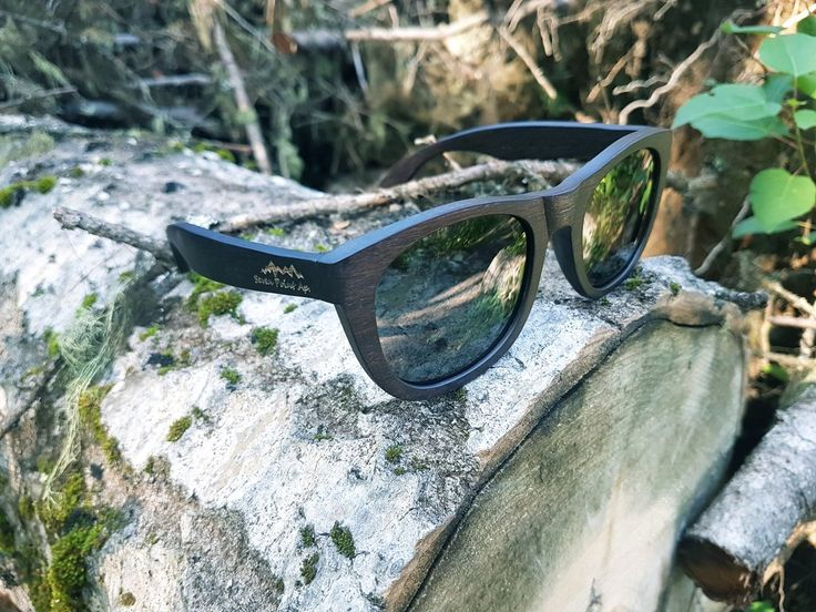 Dark Brown Wood Sunglasses With Polarized Lenses