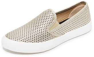 Shop Now - >  https://api.shopstyle.com/action/apiVisitRetailer?id=630481942&pid=uid6996-25233114-59 Sperry Seaside Perforated Slip On Sneakers  ...