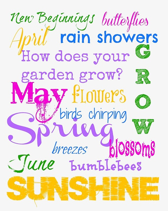 Spring Subway ArtSubway Art April, Spring Poster Ideas Signs, Springtime Boogie, Holiday Fun, Art 8X10, Posters Art, Super Posters, Holiday Decor, Country Boards