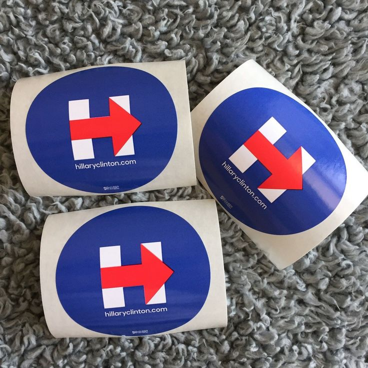 Hillary Clinton: 3 (Three) Hillary Clinton : Campaign Stickers 2016 -> BUY IT NOW ONLY: $2.95 on eBay!