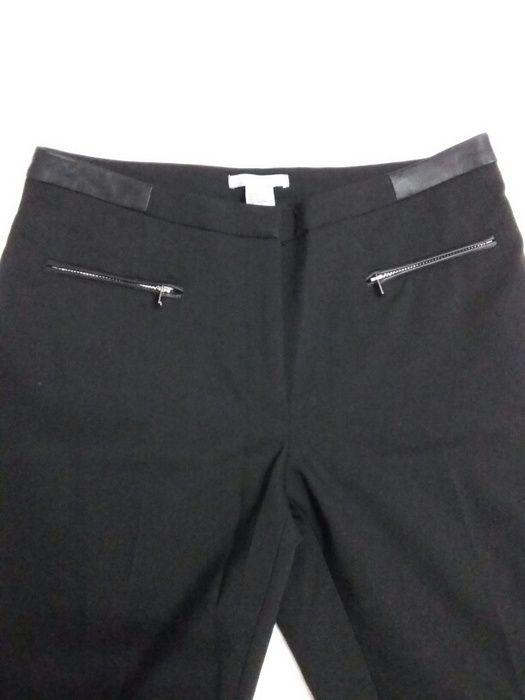 Cerne elegantni slim kalhoty H