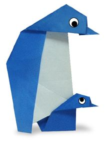 Origami Penguin's parent and child