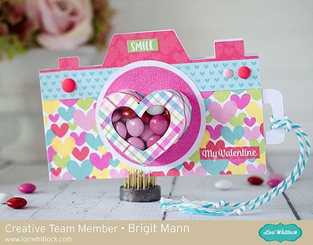 "Brigit's Scraps ""Where Scraps Become Treasures"": Camera Treat Cup Card - Lori Whitlock Creative Team Project"