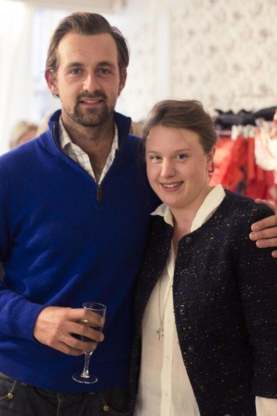 Ted Innes-Ker and Georgina Stewart at the Medici Beauty cocktail party.