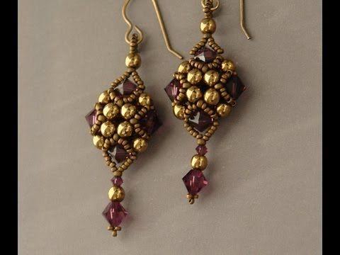 ▶ Sidonia's handmade jewelry - Beaded Art Deco Style Earrings - YouTube