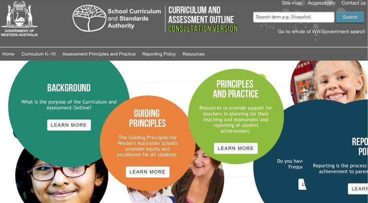 WA guidelines re the Australian Curriculum. Essential website for WA teachers:  K10outline.scsa.wa.edu.au