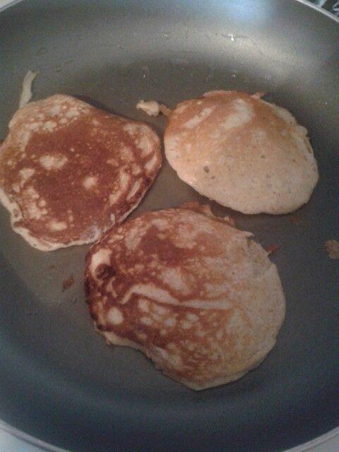 Protein pancakes, Egg whites and Protein on Pinterest