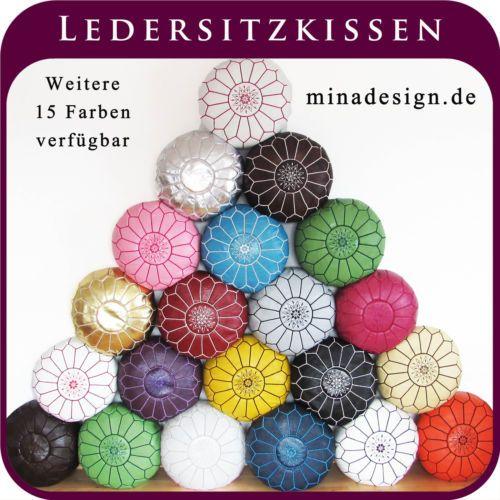ALMADIH-Leder-Sitzkissen-Lederkissen-Sitzhocker-orientalische-Pouf-Lederhocker