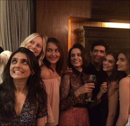 Jacqueline, Kangana, Sonakshi, Athiya, Huma party at Manish Malhotra's house, see pics